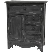 Distressed Matte Black Cabinet