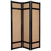 "72"" Jute Shoji Screen in Black"