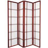 Double Cross Shoji Screen in Rosewood