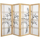 48&quot; Low Double Cross Bamboo Tree Shoji Room Divider