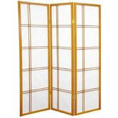 5 Feet Tall Double Cross Shoji Screen in Honey