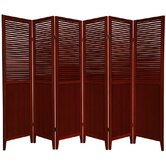 Beadboard 6 Panel Room Divider in Rosewood