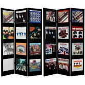 Tall Double Sided The Beatles Album Covers Canvas Room Divider