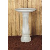 Round Bird Bath in White