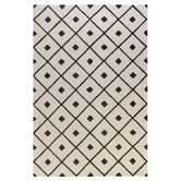 Verona Ivory / Black Diamond Lattice Rug