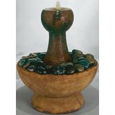 Centerpiece Cast Stone Water Ripple Fountain