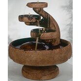 Centerpiece Cast Stone Mill Tier Cascade Fountain