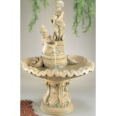Figurine Cast Stone Pouring Cherubs Fountain