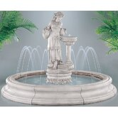 Figurine Cast Stone Angella in Toscana Pool Fountain