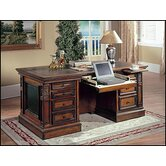 "DaVinci 66"" W Double Pedestal Executive Desk"
