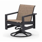 Richland Sling Swivel Dining Arm Chair