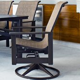 Leeward Swivel Dining Arm Chair