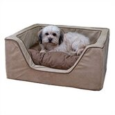 Luxury Square Pet Bed with Poly Pillow