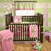Paisley Splash In Pink Crib Bedding Collection