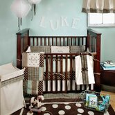 Mad About Plaid In Blue Crib Bedding Collection