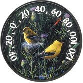 Audubon Collecting Indoor / Outdoor Goldfinches II Thermometer