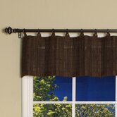Bamboo Ring Top Valance in Espresso