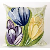 Tulips Square Indoor/Outdoor Pillow in Cool