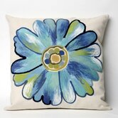 Daisy Square Indoor/Outdoor Pillow in Aqua