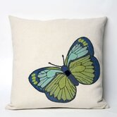Butterfly Square Indoor/Outdoor Pillow in Green