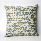 Amour Square Indoor/Outdoor Pillow in Blue
