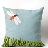 Dragonfly Square Indoor/Outdoor Pillow in Aqua