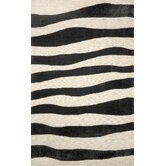 Spello Wavey Stripe Black Outdoor Rug