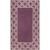 Spello Chain Border Purple Outdoor Rug