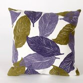Mystic Leaf Square Indoor/Outdoor Pillow in Purple