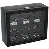 Heritage Module 2.1 Six Piece Watch Winder with Cover in Black