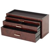 Meridian Three Drawer Storage and Watch Box