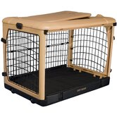 Deluxe Steel Dog Crate in Tan