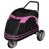 Roadster Pet Stroller in Black / Pink