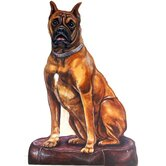 Boxer Wooden Decorative Dog Doorstop