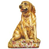 Golden Retriever Wooden Decorative Dog Doorstop