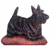 Scottie Wooden Decorative Dog Doorstop