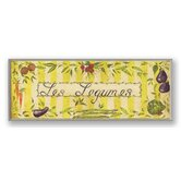 Les Legumes with Yellow Oversized Kitchen Wall Plaque