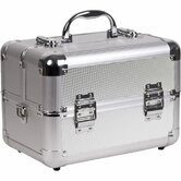 Dot Pattern 2 Tiered Makeup Train Case
