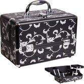 Makeup Beauty Case with 2-Tiers Expandable Trays
