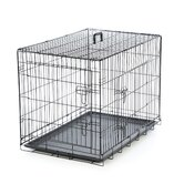 Foldable 2 Door Dog Crate with Divider
