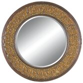Circle of Vines Wall Mirror in Dark Gold