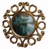 D'Ror Round Traditional Framed Mirror