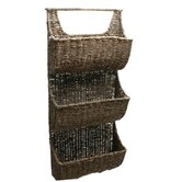 Baskets Seagrass Three-Part Wall Basket