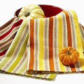 Owl Fall Stripe Dishtowel