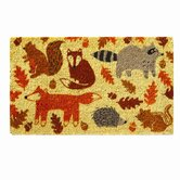 Foxy Fall Friends Coir Mat