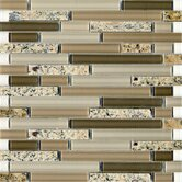 Spectrum Desert Gold Random Sized Stone and Glass Blend Mosaic in Beige Multi