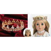 "Fleur De Lis Gold Crown Jewels for 18"" Dolls"