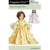 Clothes Pattern Doll Marie Antoinette Dress