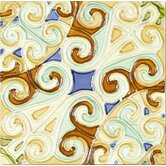 "Mission 6"" x 6"" Hand-Painted Ceramic Decorative Tile in Remolinos"