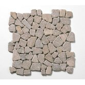"Decorative Pebbles 12"" x 12"" Interlocking Mesh Tile in Bromo Brown"